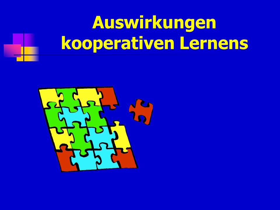Auswirkungen kooperativen Lernens
