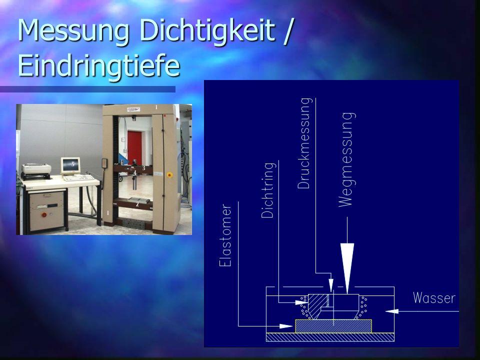 Elastomerreibung Abhängigkeit von folgenden Parametern: n Temperatur n Gleitgeschwindigkeit n Größe der Berührungsfläche n Aufbau des Elastomers n Einwirkungsdauer