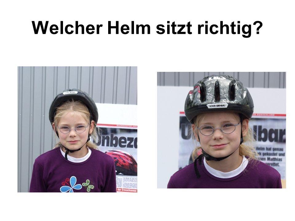 Welcher Helm sitzt richtig?
