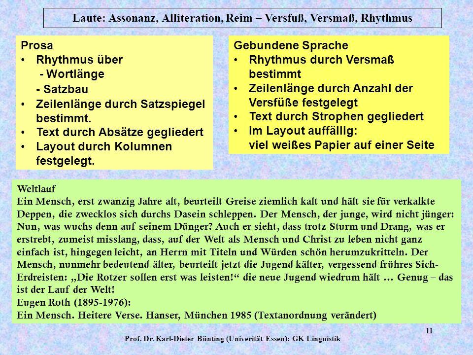 Prof. Dr. Karl-Dieter Bünting (Univerität Essen): GK Linguistik 10 Liebling?Hm hm... Bist du müde? Hm hm... Sehr müde?Hm hm... Zu müde?Hm hm!