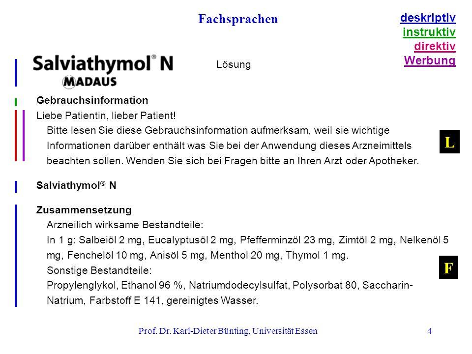 4 Gebrauchsinformation Liebe Patientin, lieber Patient.