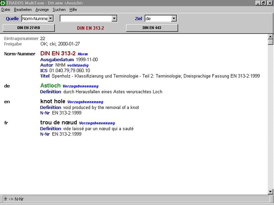 17. Juni 2003Deutsch als Sprache der Normung15