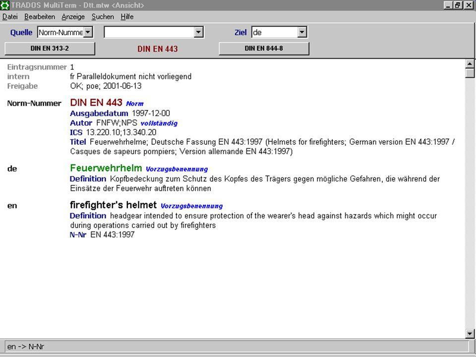 17. Juni 2003Deutsch als Sprache der Normung16