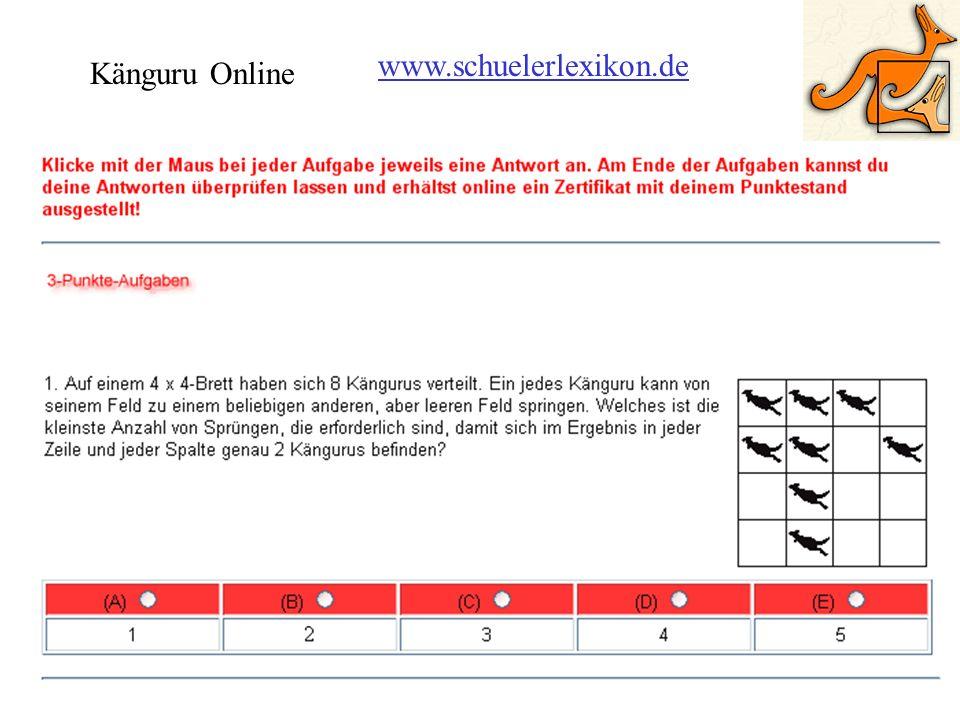 Känguru Online www.schuelerlexikon.de