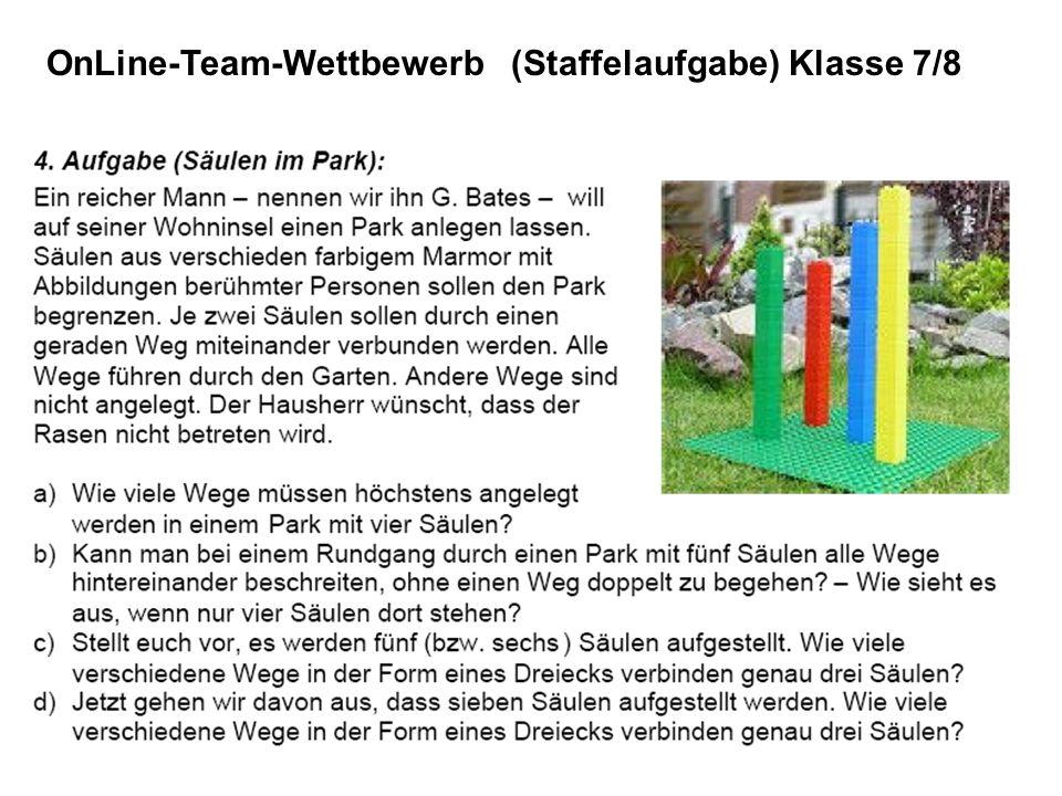 OnLine-Team-Wettbewerb (Staffelaufgabe) Klasse 7/8