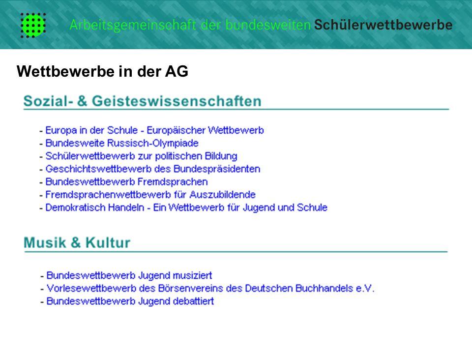 Wettbewerbe in der AG