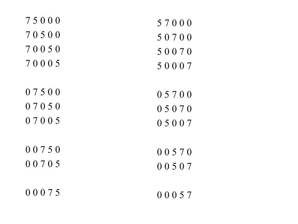 7 5 0 0 0 7 0 5 0 0 7 0 0 5 0 7 0 0 0 5 0 7 5 0 0 0 7 0 5 0 0 7 0 0 5 0 0 7 5 0 0 0 7 0 5 0 0 0 7 5 Strategie Durchschieben 4 7 5 0 0 0