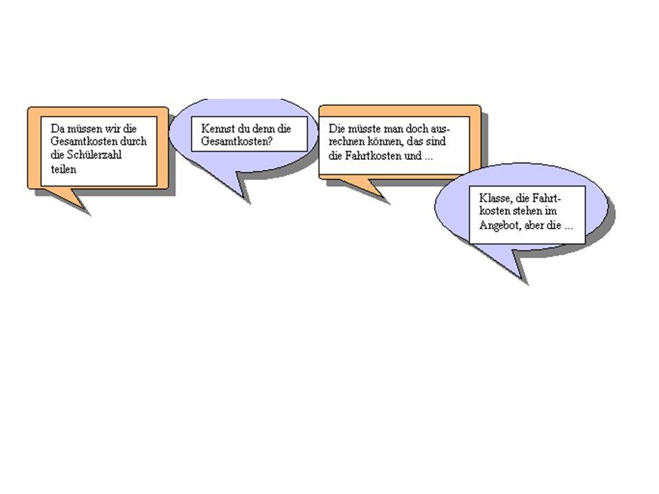 a)Ergänze die unvollständigen Sprechblasen und setze das Gespräch fort.