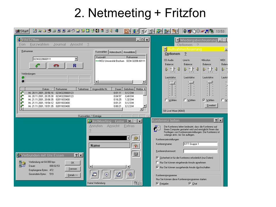 2. Netmeeting + Fritzfon