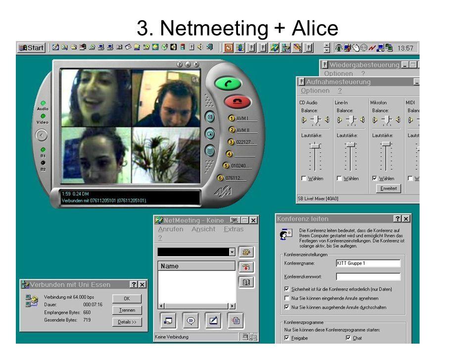 3. Netmeeting + Alice