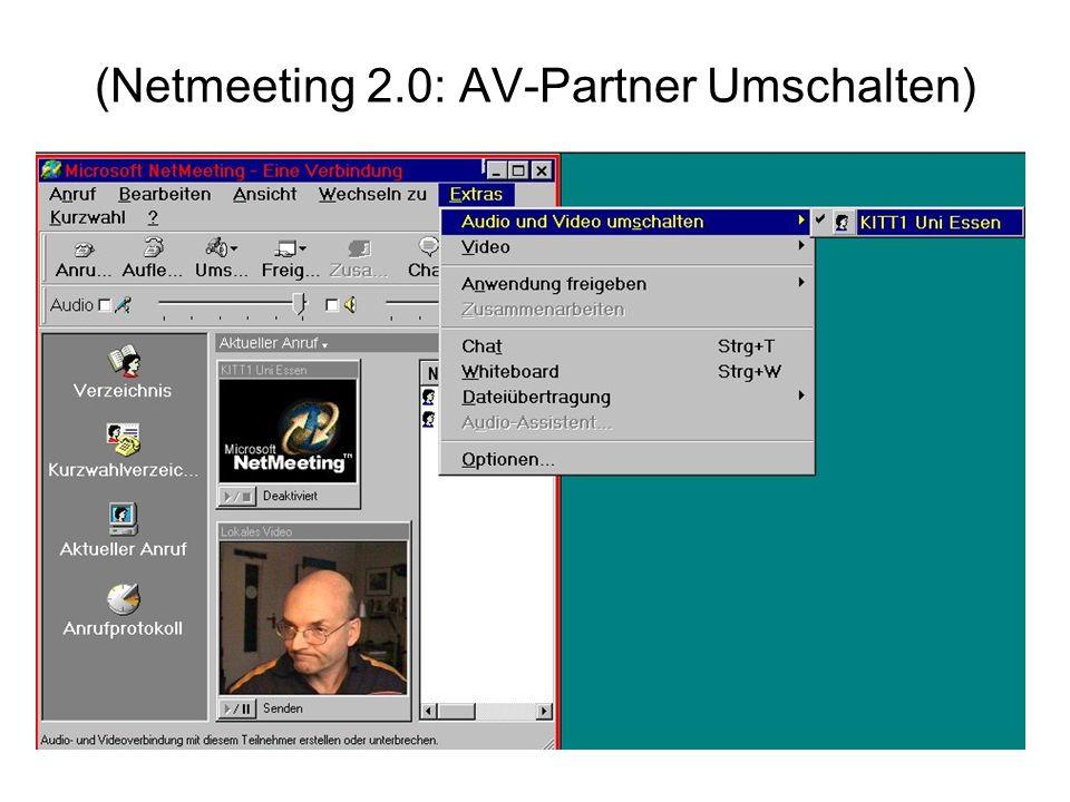 (Netmeeting 2.0: AV-Partner Umschalten)