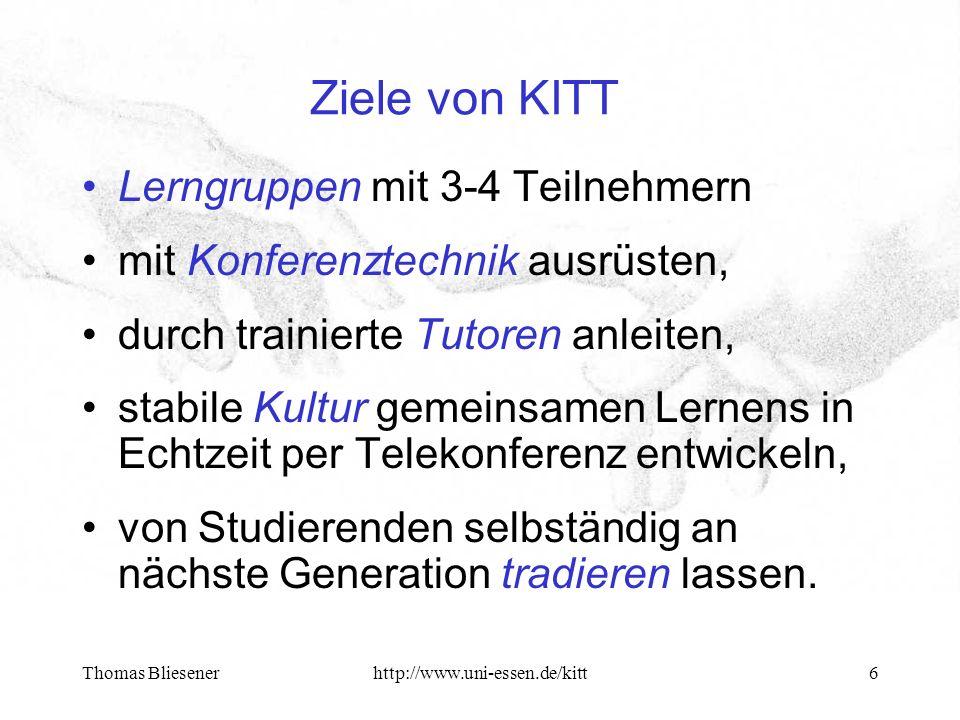 Thomas Bliesenerhttp://www.uni-essen.de/kitt7 Technisches Setting