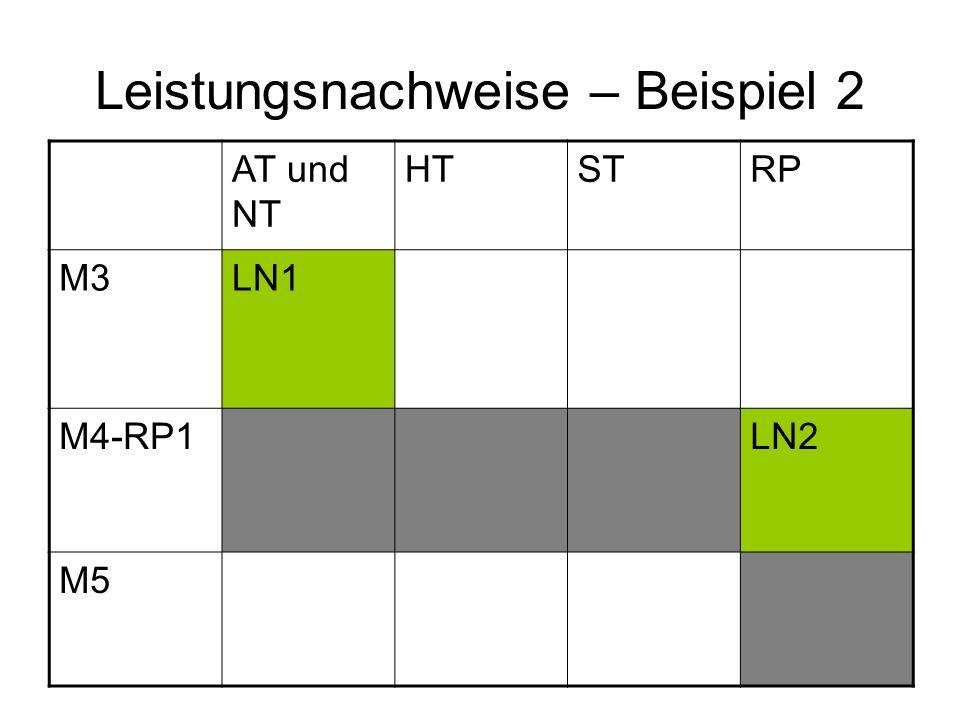 Leistungsnachweise – Beispiel 2 AT und NT HTSTRP M3LN1 M4-RP1LN2 M5