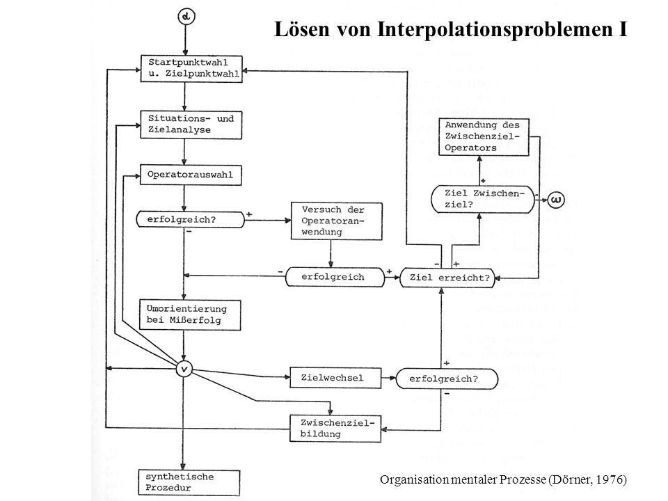 Lösen von InterpolationsproblemenII Schritte im Problemlöseprozess