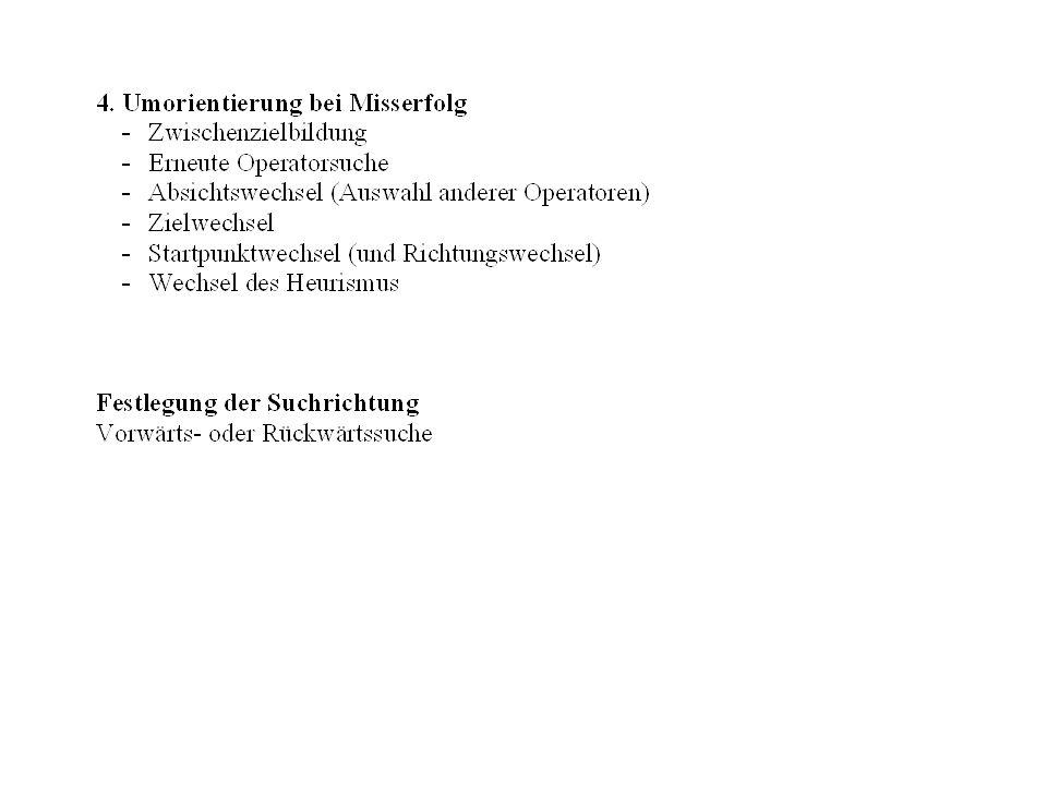 Heuristiken /Suchprozeduren I Heurismus Verfahren zur Lösungsfindung, d.