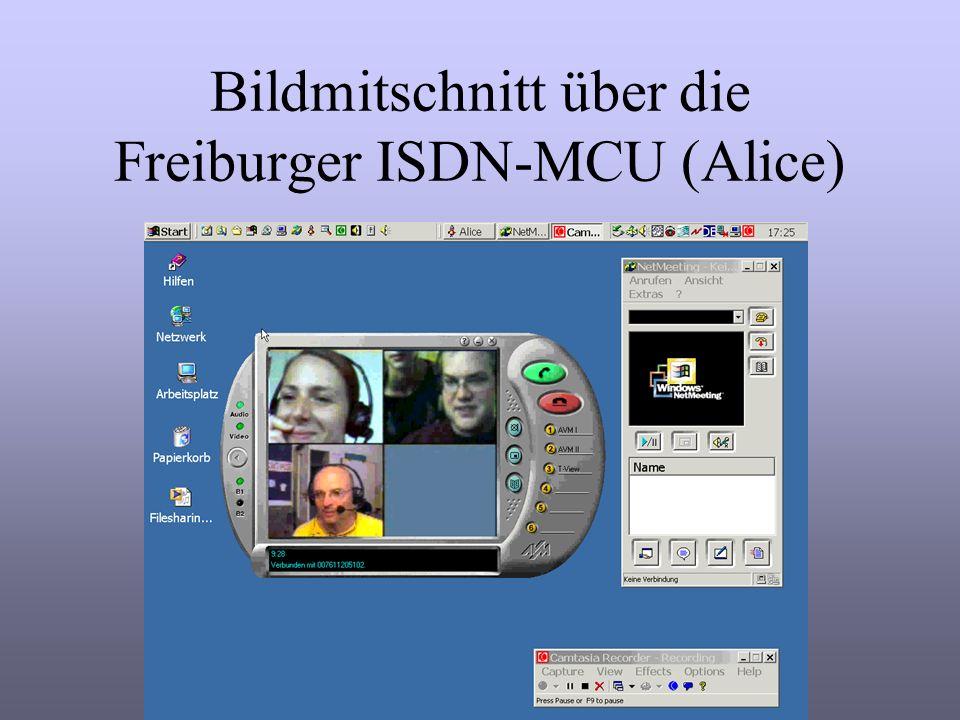 Bildmitschnitt über die Freiburger ISDN-MCU (Alice)