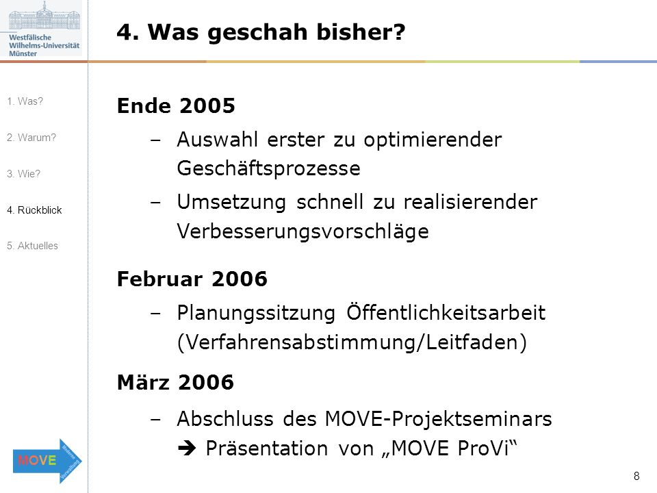 MOVEMOVE 9 5.Was geschieht aktuell.