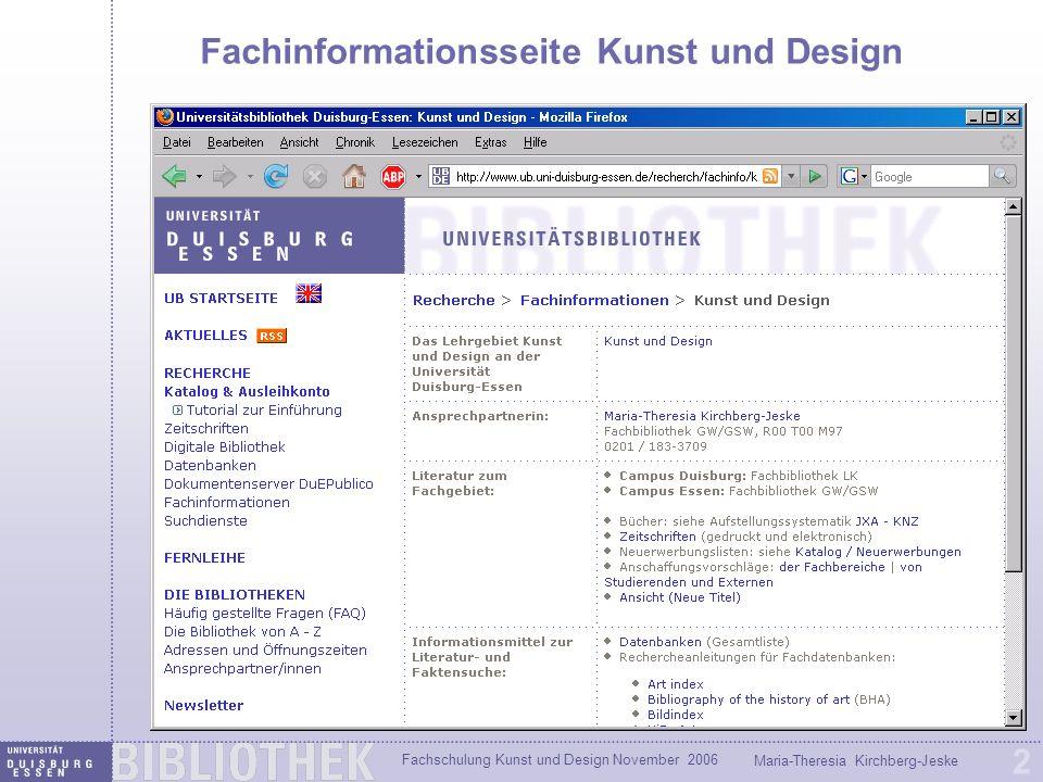 Fachschulung Kunst und Design November 2006 Maria-Theresia Kirchberg-Jeske 13 Beispiel Künstler Alberto Giacometti Aus welcher Sammlung stammt die Skulptur: Le Chat