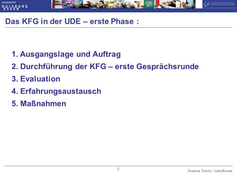 Susanne Schulz / Jutta Bonnet Optional slide number: 14pt Arial Bold,blue Datum 10pt Arial,blue Untertitel 14pt Arial Bold,blue Thema des Vortrags 10pt Arial,blue 3 Ausgangslage, Auftrag und Unterstützung (1) In 2006 hat die PE/OE eine Bedarfsbefragung der Beschäftigten der Universität zur Einführung eines Mitarbeiter-Vorgesetzten-Gesprächs gemacht.