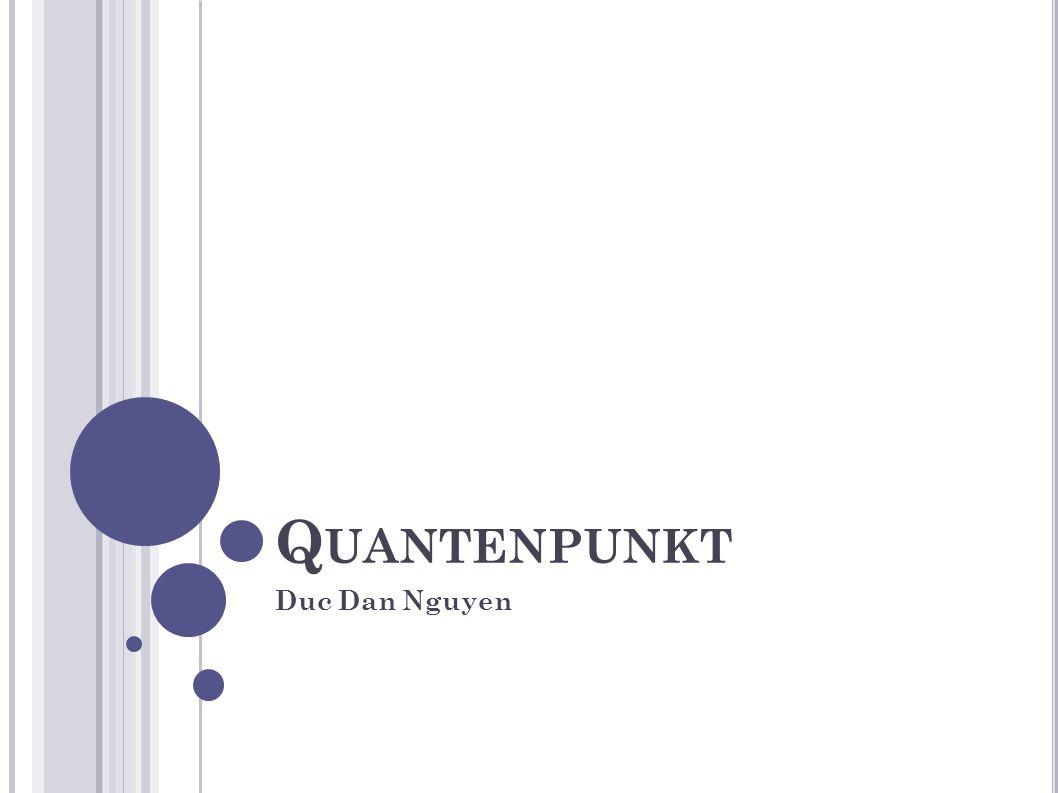 Q UANTENPUNKT Duc Dan Nguyen