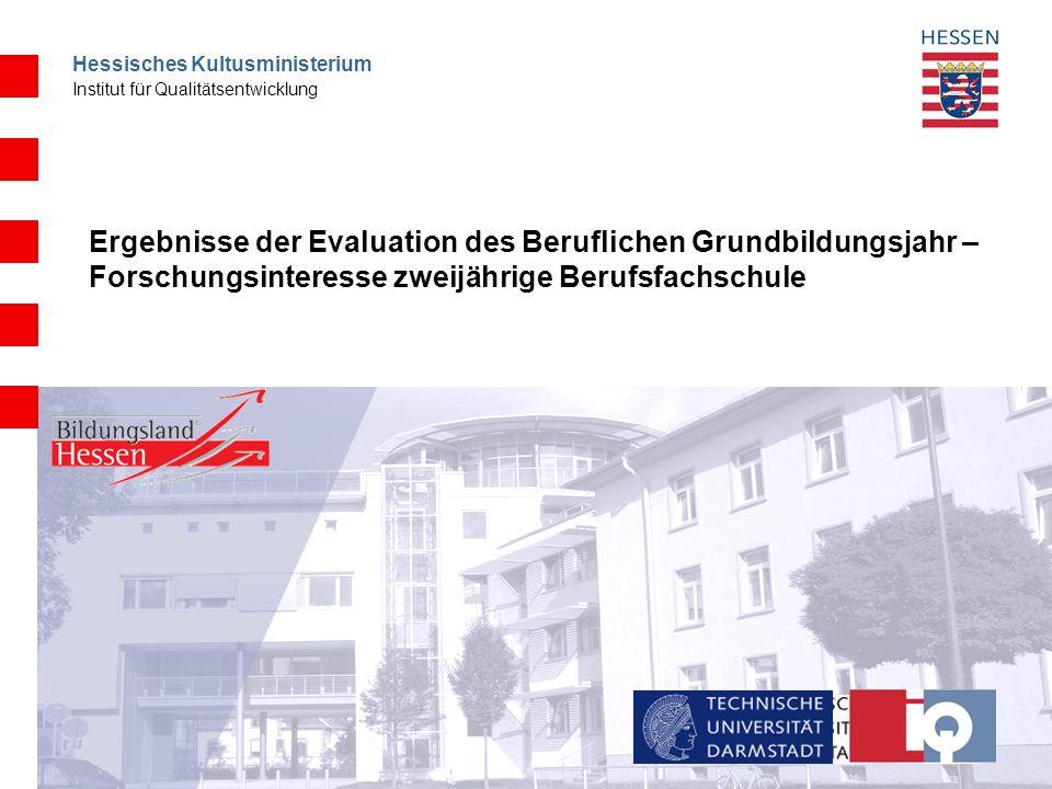 Hessisches Kultusministerium Institut für Qualitätsentwicklung Vergleich Fachschulmodelle Rheinland-Pfalz, Baden- Württemberg und Hamburg Welche Funktion nehmen die jeweiligen Schulformen im Übergangssystem ein.