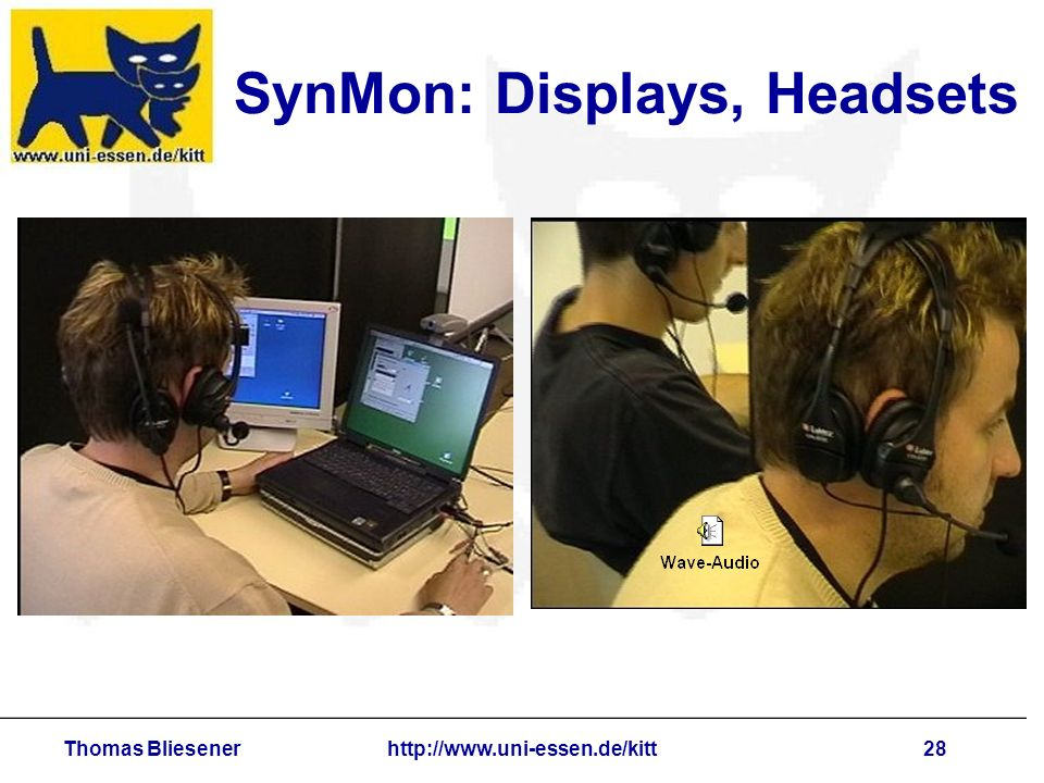 Thomas Bliesenerhttp://www.uni-essen.de/kitt28 SynMon: Displays, Headsets