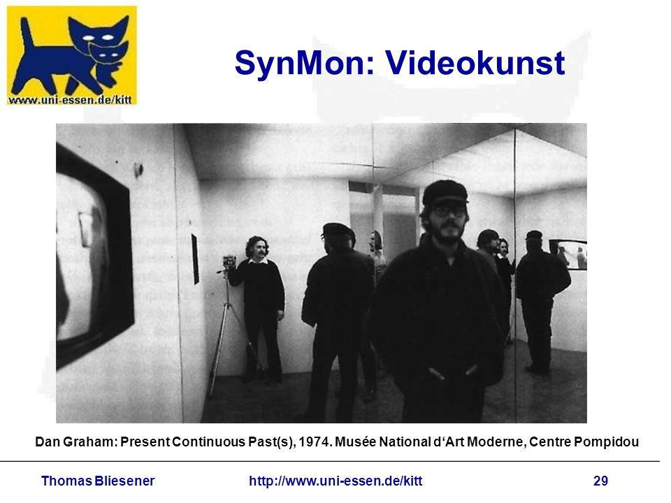 Thomas Bliesenerhttp://www.uni-essen.de/kitt29 SynMon: Videokunst Dan Graham: Present Continuous Past(s), 1974.