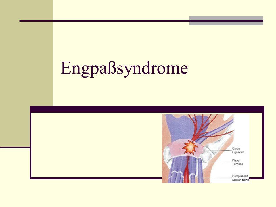Tarsaltunnelsyndrom Nervus tibialis läuft am Innenknöchel in einer knöchern begrenzten Lage (Tarsaltunnel) Schädigung durch direkten Druck (Schuhe!) oder andere Ursachen wie Verletzungen oder eingeschränkte Durchblutung Belastungsabhängige Schmerzen und quälende Missempfindungen im Bereich der Fußsohle Diagnostisch Messung der Nn.