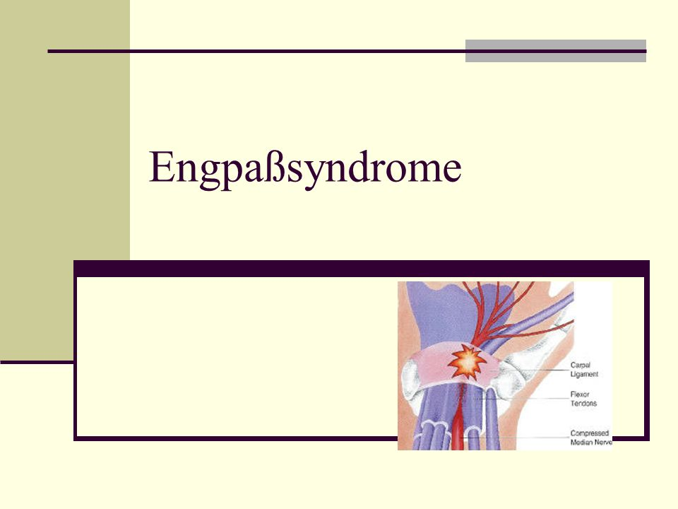 Engpaßsyndrome