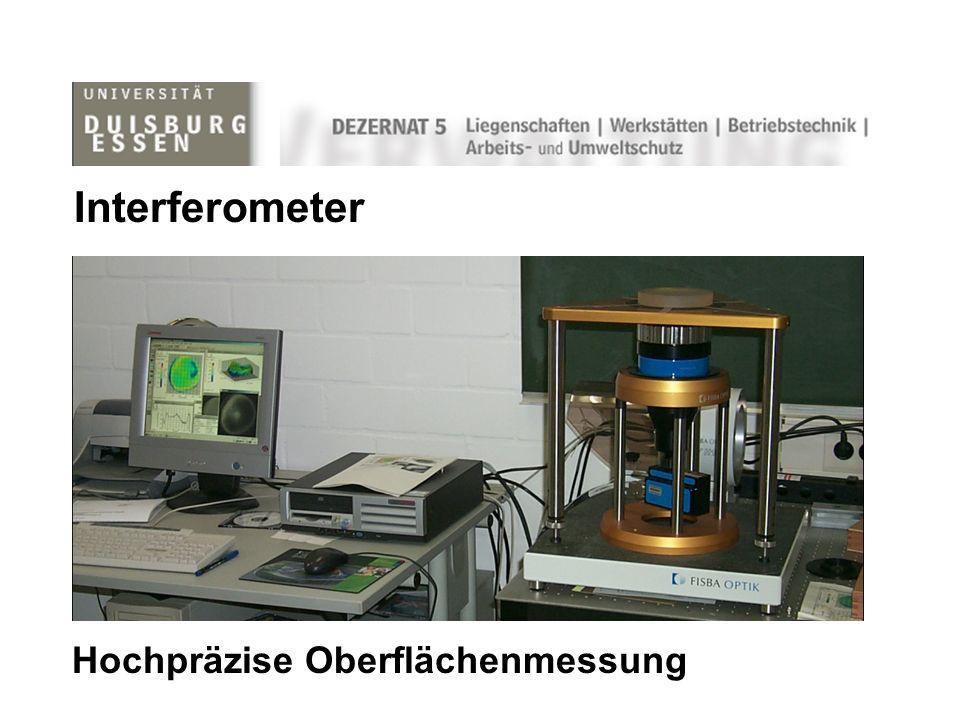 Interferometer Hochpräzise Oberflächenmessung