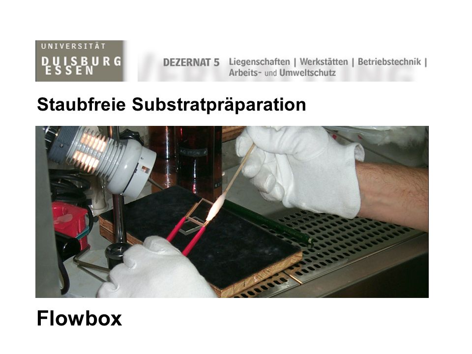 Flowbox Staubfreie Substratpräparation