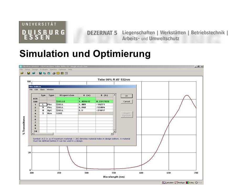 Simulation und Optimierung