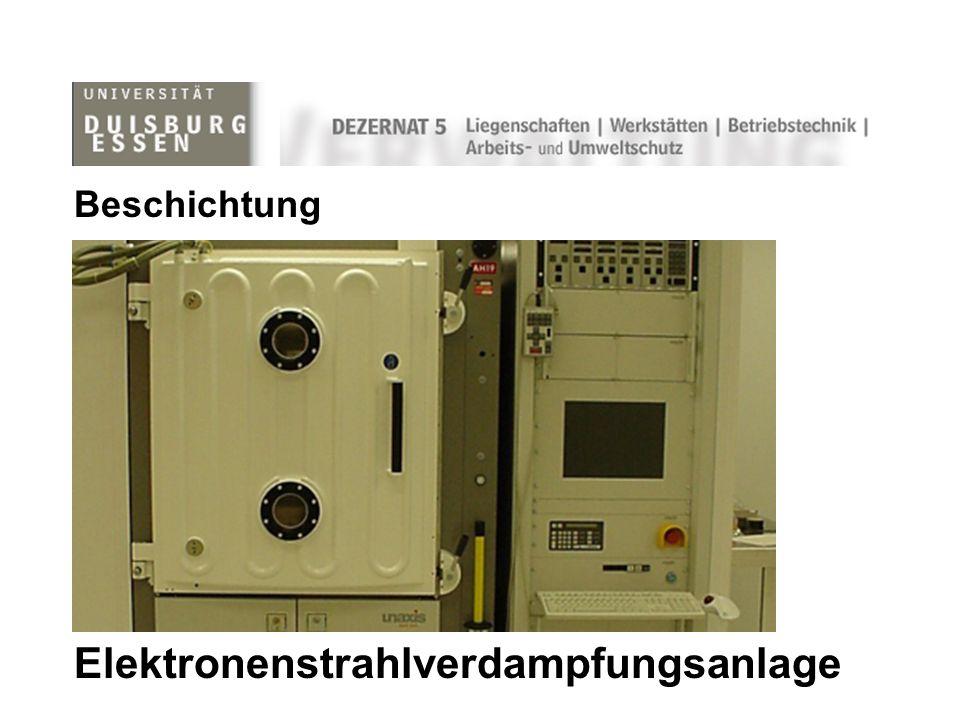 Elektronenstrahlverdampfungsanlage Beschichtung