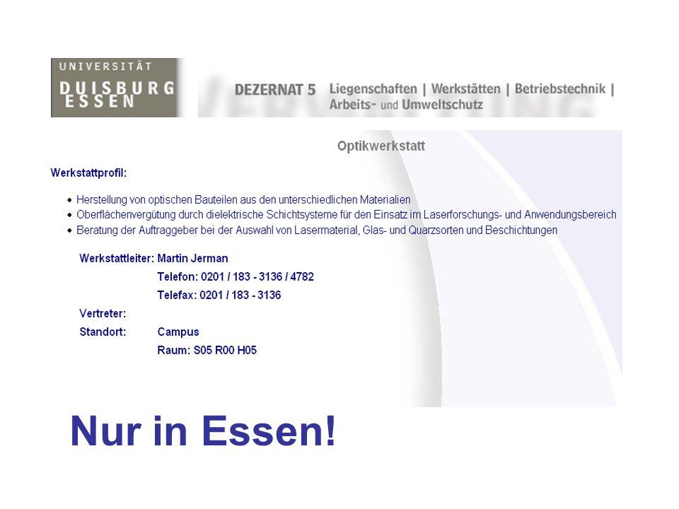 Nur in Essen!