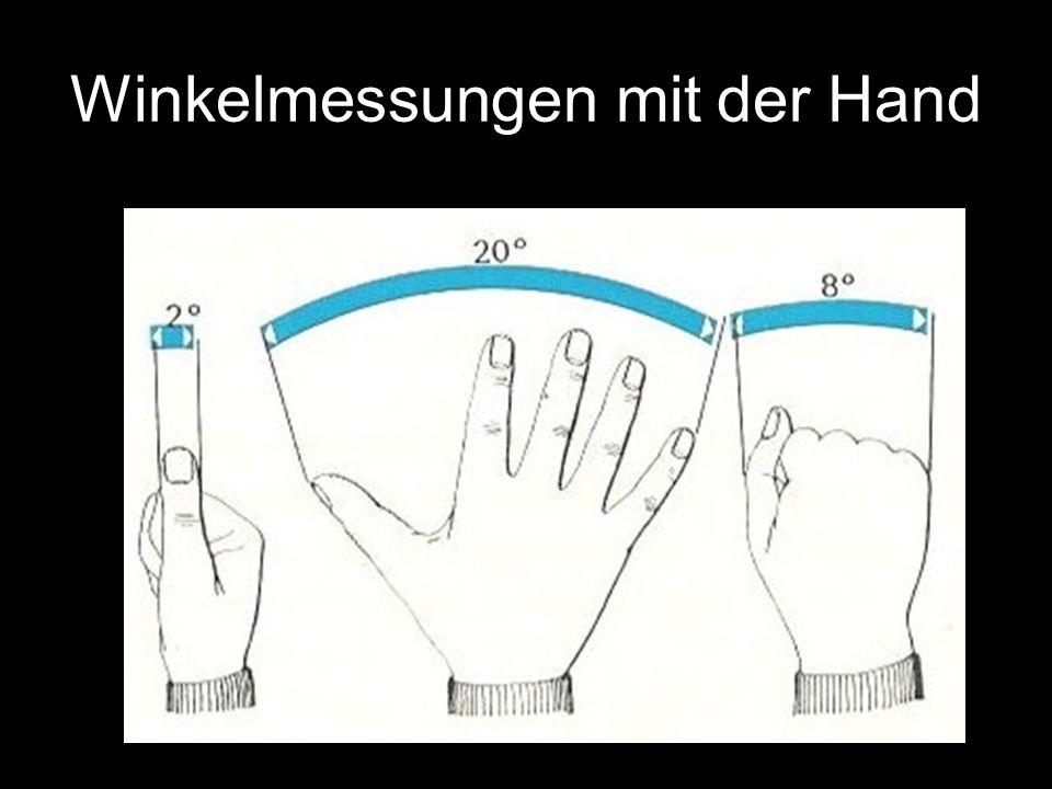 Winkelmessungen am Großen Wagen 6.7º 4.4º 5.4º 10.2º 7.9º 5.4º 4.5º 25.6º 25.7º 10.1º 10.4º 15.7º 18.1º