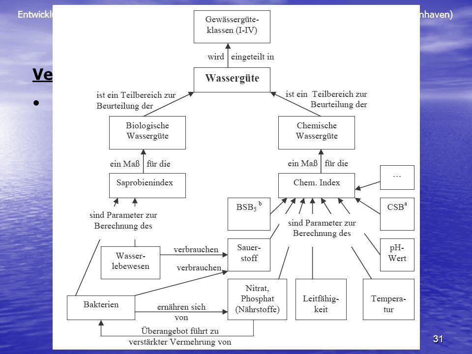 Entwicklung eines Konzeptes für eine Lehrerfortbildung zum Thema Umweltchemie Wasser (S. Tenhaven) 31 Fortbildungskonzept Vernetzung und Kumulatives L