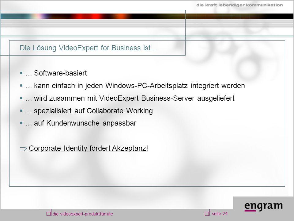 seite 24 die videoexpert-produktfamilie Die Lösung VideoExpert for Business ist......