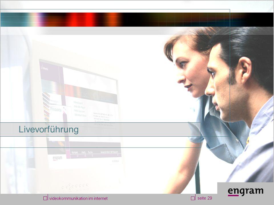 videokommunikation im internet seite 29 Livevorführung