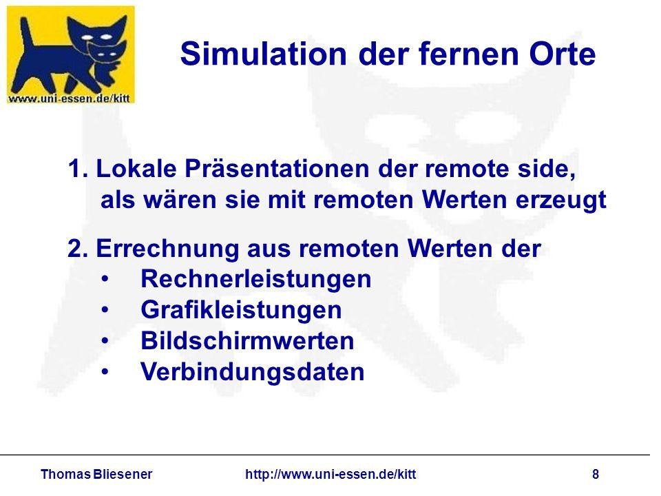 Thomas Bliesenerhttp://www.uni-essen.de/kitt8 Simulation der fernen Orte 1.