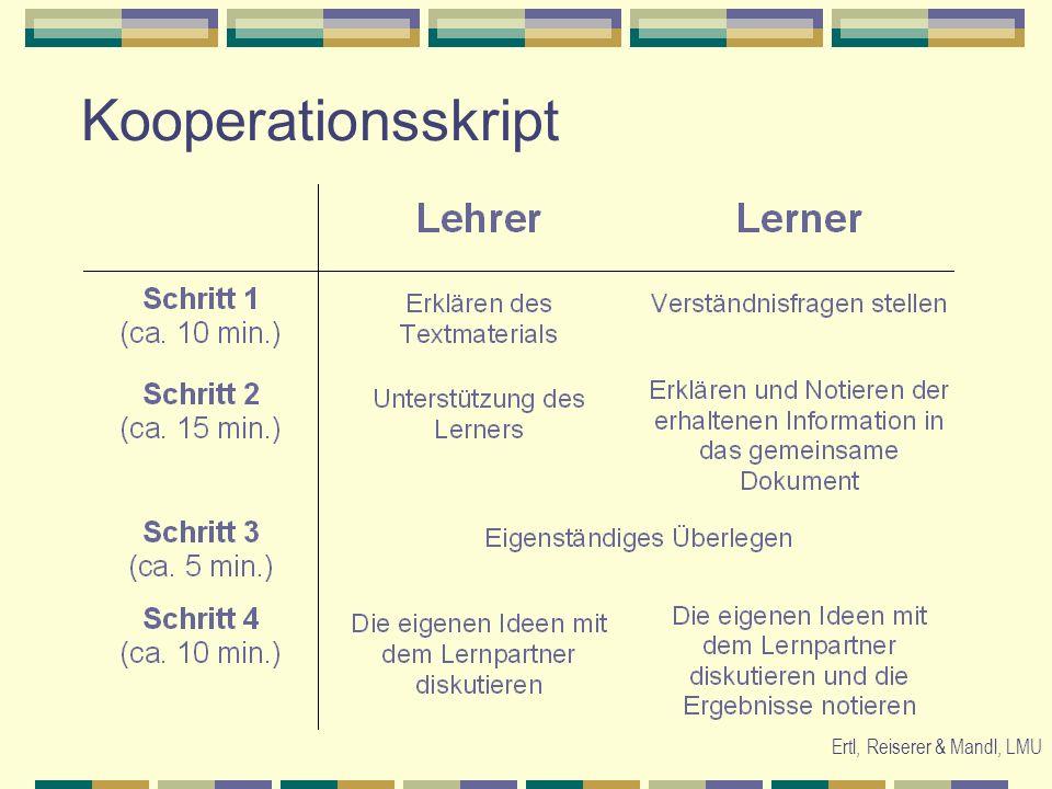 Ertl, Reiserer & Mandl, LMU Kooperationsskript
