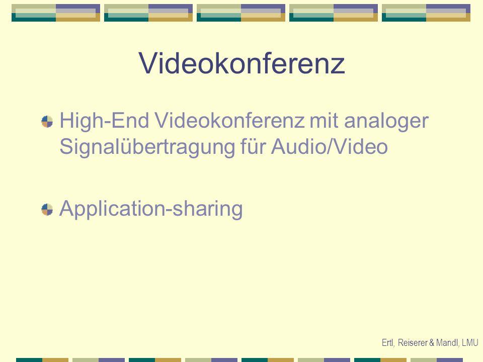 Ertl, Reiserer & Mandl, LMU Fragestellungen Wie findet kooperatives Lernen in Videokonferenzen statt.