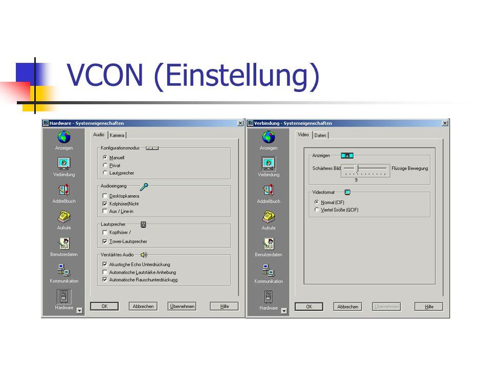 VCON (Einstellung)