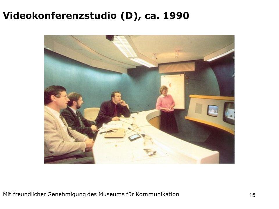 15 Videokonferenzstudio (D), ca. 1990 Mit freundlicher Genehmigung des Museums für Kommunikation