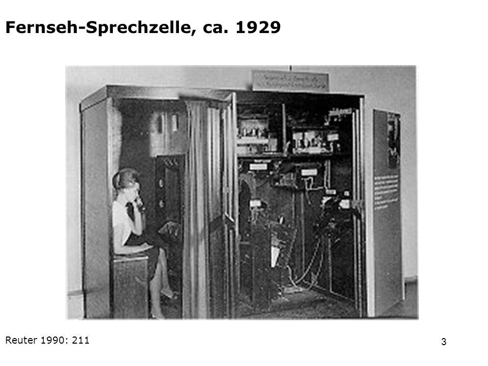 4 Öffentliche Fernseh- Sprechstelle, ca. 1934