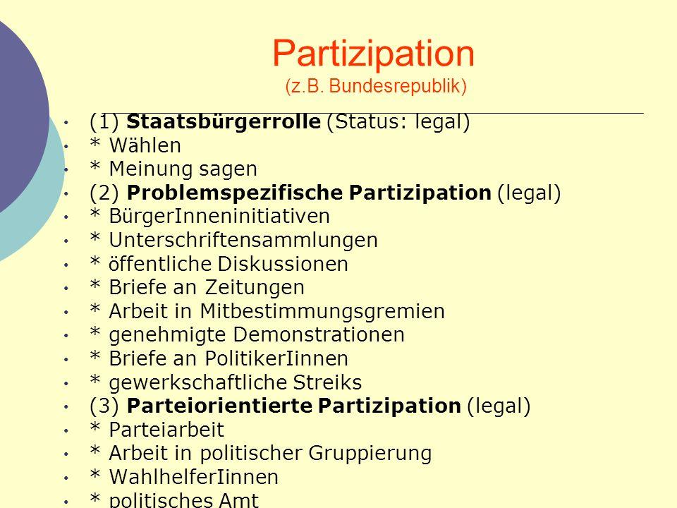 Partizipation (z.B.