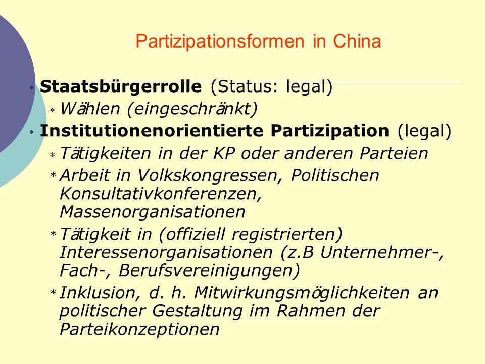 SOZIALE KONTROLLE (CHINA) Haushaltsregistrierungssystem Personalakten Parteiorganisationen Polizei Gesetze gesellschaftliche Normen