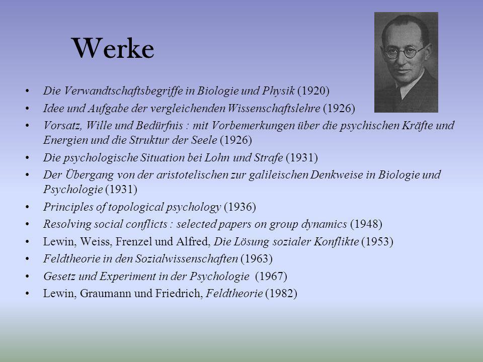 Werke Die Verwandtschaftsbegriffe in Biologie und Physik (1920) Idee und Aufgabe der vergleichenden Wissenschaftslehre (1926) Vorsatz, Wille und Bedür