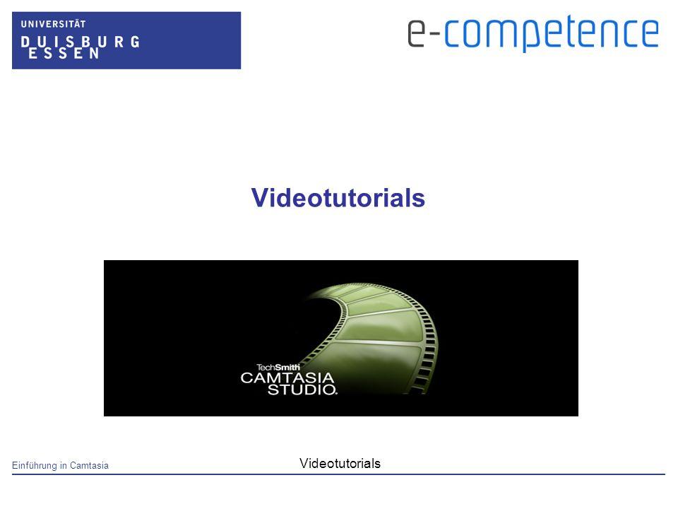 Einführung in Camtasia Videotutorials