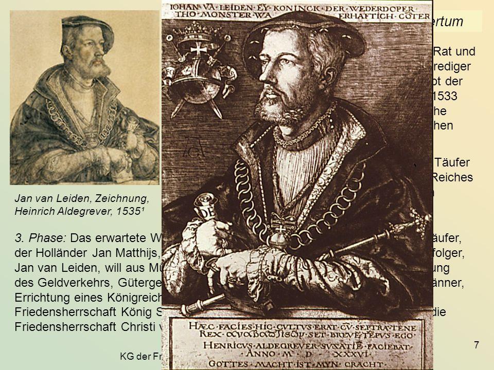 KG der Frühen Neuzeit - WS 2006/07 - Frömmigkeitseliten 18 2.6 Petrus Canisius (1521-1597) Museum für Kunst und Geschichte, Freiburg Ue.