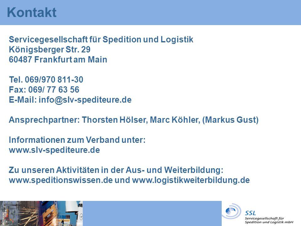 Kontakt Servicegesellschaft für Spedition und Logistik Königsberger Str.